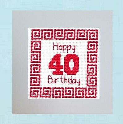 £6.95 • Buy 40th Birthday - Counted Cross Stitch Card Kit