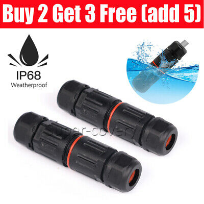 £2.78 • Buy 2 Pole Core Joint Outdoor IP68 Waterproof Electrical Cable Wire Connector UK