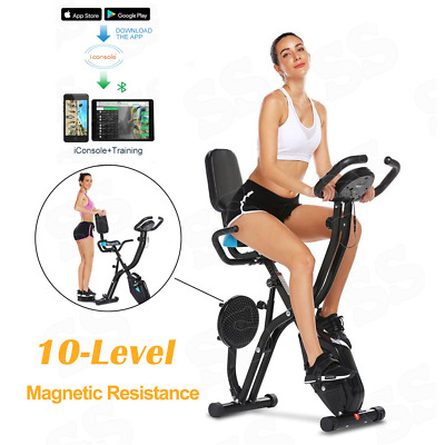 £165.89 • Buy 3-in-1 Slim Folding Upright Exercise Bike Recumbent Cycling Workout LCD MONITOR