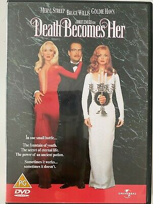 £3.45 • Buy Death Becomes Her (DVD) 1992 Meryl Streep Bruce Willis Goldie Hawn FREE DELIVERY
