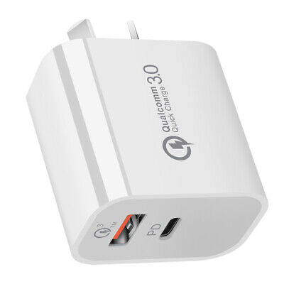 AU12.98 • Buy 18W Fast Adapter Quick Charge 3.0 USB Wall Charger Plug For IPhone 12 11 IPad