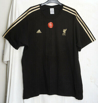 £17.50 • Buy Adidas Genuine Black T Shirt Liverpool Never Forgotten 25 Years 96 Gold Stripes