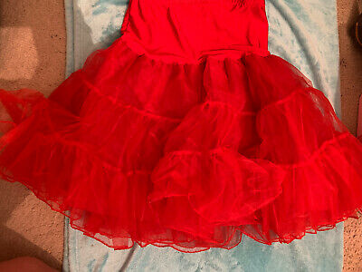 £15 • Buy Vintage Style Red Flared Petticoat/ Underskirt Size XL