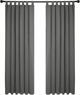 £12.82 • Buy Super Soft Tab Top Window Treatments Curtains Thermal Insulated Blackout