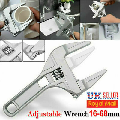 £4.75 • Buy 16-68MM Adjustable Convenient Large Spanner Wrench Opening Plumber Reliable Tool