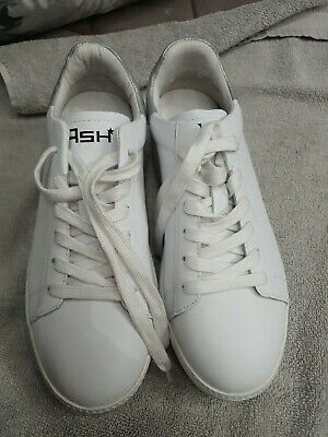 £20 • Buy ASH Cult White Leather Silver Flash Platform Trainers Uk5
