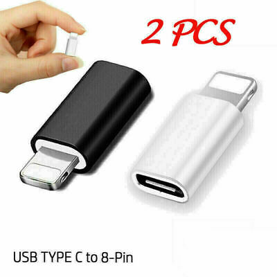 AU7.17 • Buy 2x USB-C Type C To Adapter Data Sync Connector Fits For IPhone IPad Mac