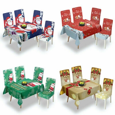 AU26.09 • Buy Christmas Tablecloth Dining Table Cloth Cover Party Dinner Kitchen Home Decor