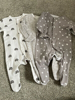 £5 • Buy George Baby Unisex Sleepsuits X 3 - First Size