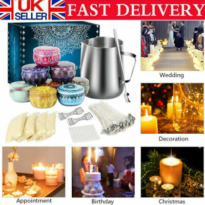 £20.48 • Buy Complete Candle & Melt Making Kits DIY Starter Dyes Wicks Soy Wax Candle Pitcher