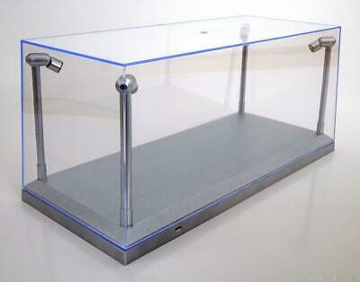 £29.99 • Buy Display Show Case Silver 4x Leds 1:18 Scale Nice For Model Displays Brand New.