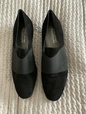 £26 • Buy Stuart Weitzman For Russell And Bromley Black Wedge Suede Shoes UK6.5
