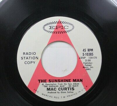 £2.90 • Buy Country Promo 45 Mac Curtis - The Sunshine Man / It'S My Way On Epic