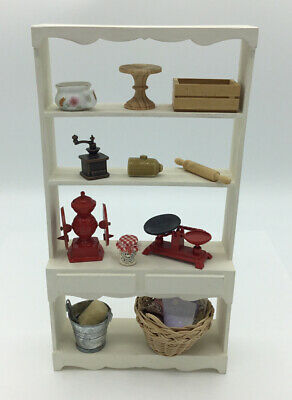 £5 • Buy Dolls House Tall Kitchen Shelf Unit With Accessories