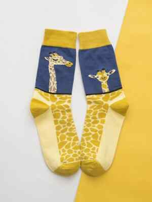 £2.99 • Buy Ladies Lovely Yellow And Blue Giraffe Novelty Socks. One Size Stretchy.