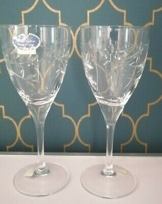 £22.99 • Buy Pair Royal Doulton Crystal 7  Jasmine Wine Glasses Perfect Condition