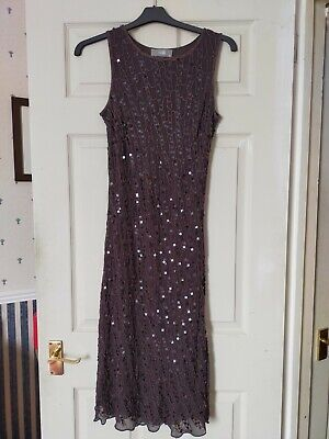 £5 • Buy Wallis Sequinned And Beaded Dress Size 12