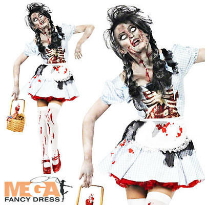 £11.99 • Buy Zombie Dorothy Ladies Halloween Fancy Dress Adults Womens Horror Costume Outfit