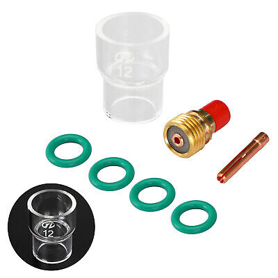 £8.39 • Buy 7pcs TIG Welding Torch Stubby Gas Lens Pyrex Glass Cup Kit For WP-9/20/25 R7