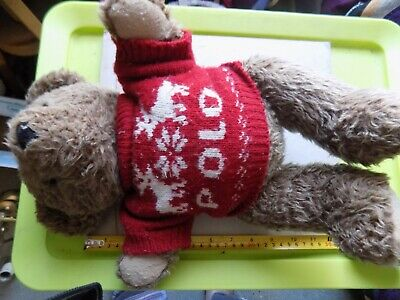 £2.99 • Buy Vintage 1998 Ralph Lauren Teddy Bear With Polo Jersey