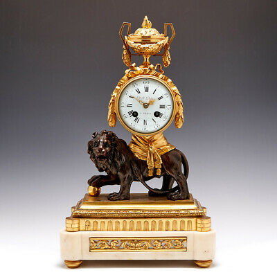 £6050 • Buy French Late 19th Century Bronze, Ormolu And Marble Mantel Clock