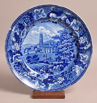 £25 • Buy Attractive Antique Pearlware Transfer Printed Plate Fonthill Abbey