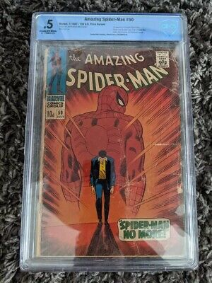 £199 • Buy AMAZING SPIDERMAN 50(SILVER AGE) Marvel 1967 1ST APPEARANCE KINGPIN CBCS 0.5