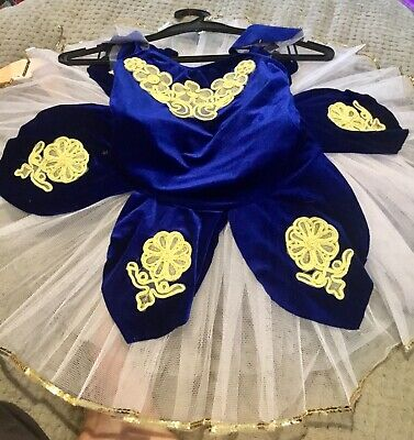 £25 • Buy Royal Blue And Floral Childs TUTU