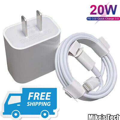 AU5.75 • Buy 20W USB-C PD Fast Wall Charger Power Adaptor Type C For IPhone 12 11 Pro Max