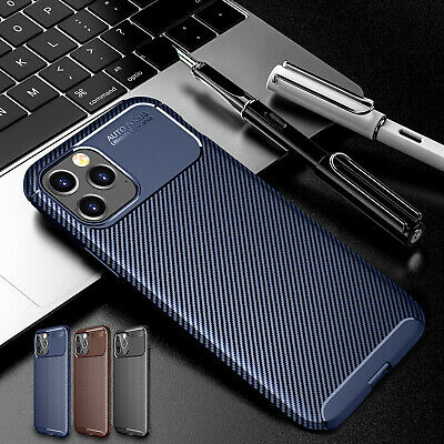 AU5.72 • Buy Slim Carbon Fiber Silicone Case Cover For IPhone 13 12 Pro Max 11 XS XR 8 7 6 SE