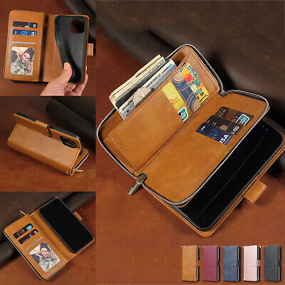 AU11.56 • Buy Zipper Leather Wallet Card Case For IPhone 13 12 11 Pro Max XS XR 678 Flip Cover