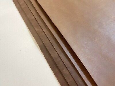 £27.99 • Buy 2mm Thick Dyed Veg Tan Leather Cowhide Craft-distressed Brown & Irregular Shape