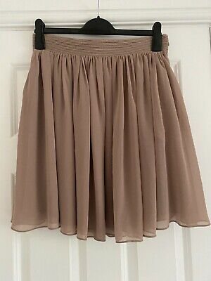 £5.50 • Buy Reiss, Toffee Coloured, Chiffon Style, Flared Skirt, UK12