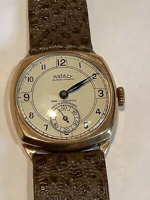 £150 • Buy Vintage 30's 9ct Gold Gents Rotary Super Sport Wristwatch