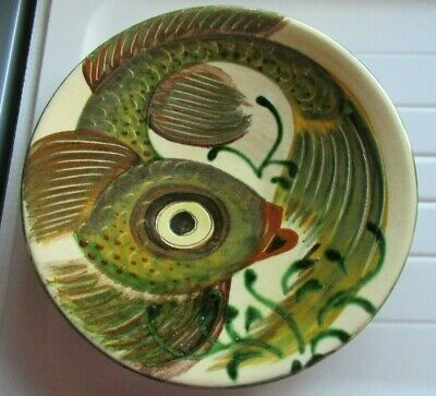 £14.99 • Buy VINTAGE PUIGDEMONT STUDIO POTTERY FISH DECORATED CHARGER/SHALLOW DISH - 27 Cms