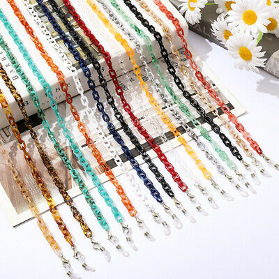AU4.06 • Buy Small Acrylic Glasses Chain Face Mask Lanyard Sunglasses Neck Strap Rope Holder/