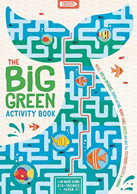 £3.99 • Buy The Big Green Activity Book: Mazes, Spot The Difference, Search And Find, Memory