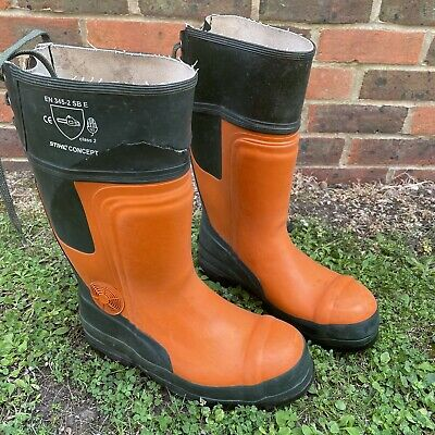 £28 • Buy STIHL Cut Protection Boots Rubber Boots Chainsaw Boots Class 2 Size UK 9 EU 43
