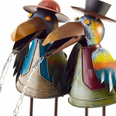£15.31 • Buy Water Fountain Owl Crow Rooster Yard Statue Ornament Outdoor Yard Art Decor UK