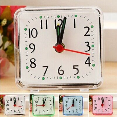 £4.15 • Buy Square Home Travel Alarm Clock Trip Bedside Ring Bell Portable Luminous Pointer