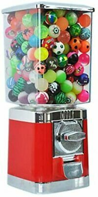 £62.49 • Buy Red Retro 20p Coin Operated Vending Machine + 100 Filed Toy Capsules Included.