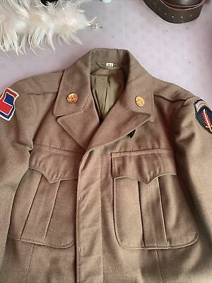 £35.64 • Buy WW2 US Army 69th Division/ Sheaf Patched  Ike Jacket Minty