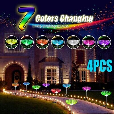 £20.39 • Buy Solar Spot Lights LED Colour Changing Projection Stake Garden Light Outdoor UK