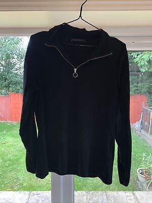 £1 • Buy M&S Collection Size 14 Black Long Sleeve Zip Up Top