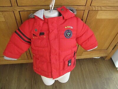 £4.99 • Buy Next Kids 9-12mth Red Hooded Puffer Jacket