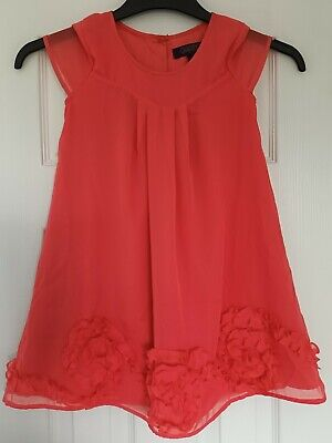 £8.99 • Buy Girls Ted Baker Party Dress Age 5-6 Orange/Coral