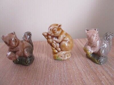£8 • Buy A Set Of Wade Whimsies Squirrels X3 1974 - 1981