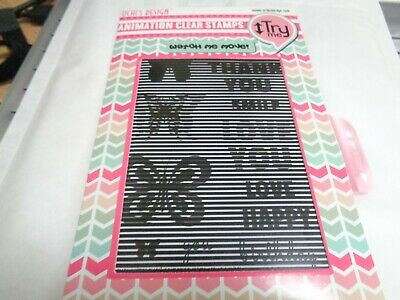 £2 • Buy SALE New Uchi's Design Animation Clear Stamps Vertical Butterfly