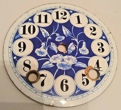 £10 • Buy Blue & White Clock Floral Dial.