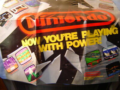 £7.31 • Buy Sellers Collection Vintage Nintendo NES Large Games Advertising Poster 20X27